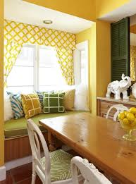 curtain with yellow color wall home combo