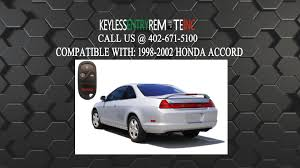 2002 honda accord change how to replace honda accord key fob battery 1998 1999 2000 2001