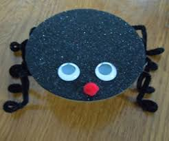Recycled Halloween Crafts - cd spider craft from a recycled cd halloween craft ideas