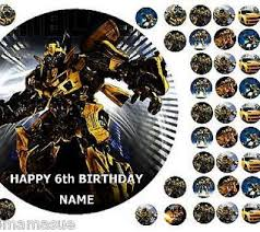 24 x transformers rice paper birthday cake toppers best transformers cake topper deals compare prices on dealsan co uk