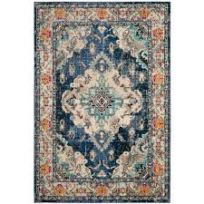 safavieh monaco navy light blue 8 ft x 10 ft area rug mnc243n