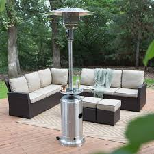 Patio Furniture Milwaukee Wi by Red Ember Hammered Bronze Commercial Patio Heater With Table