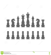 White Chess Set Icons Chess Pieces Chess Set The King Queen Bishop Rook
