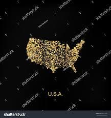 Map Of U Gold Map Usa Golden Sand Vector Stock Vector 392017564 Shutterstock