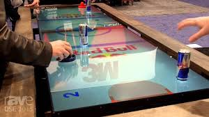 Air Hockey Coffee Table Dse 2015 Multitaction Demos Digital Air Hockey Table