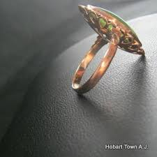 art deco jade 14ct gold marquise shape ring hobart town antique