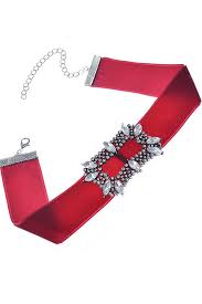 velvet ribbon rhinestone embellished velvet ribbon vintage chic choker necklace