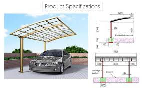 Car Port For Sale Metal Carport Canopy Outdoor Curved Carports Sunshield Car Shade