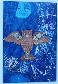 night owl u201d mixed media painting life by the seat of my pants