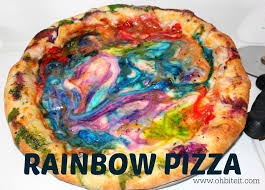 rainbow pizza oh bite it