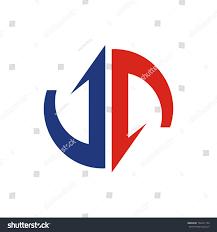 ja logo initial letter design template stock vector 734271754