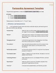 partnership contract template partnership agreement template gif