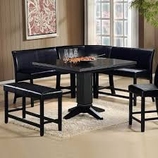 dining room black corner dining table with dining room table