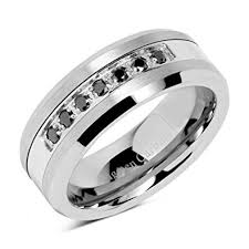 titanium tungsten rings images 100s jewelry 8mm men 39 s tungsten ring black cz inlay wedding band jpg