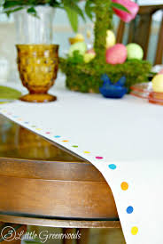 make your own no sew table runner for easter