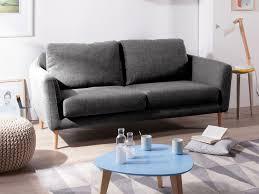 canapé fixe tissu canapé fixe tissu pieds bois style scandinave hej gris