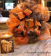 fall ribbon fall decorating ideas for your front porch