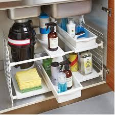 Under Sink Shelves by Kitchen Refresh Undersink Container Stories