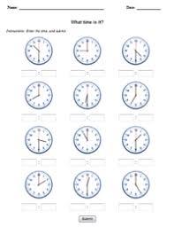 clock worksheets online handwriting for kids manuscript clocks what time is it