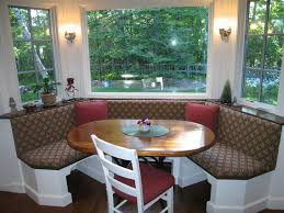 Window With Seat - kitchen awesome built in banquette bay window with black metal