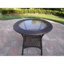 Wicker Accent Table Wicker Outdoor Coffee U0026 Side Tables Shop The Best Deals For Dec