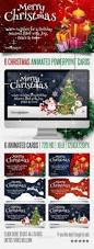 6 christmas powerpoint animated cards behance