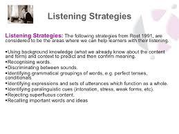 listening pre listening post listening
