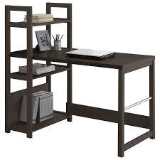 corliving folio bookshelf desk black espresso desks