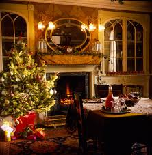 the most beautiful christmas decorated house house interior