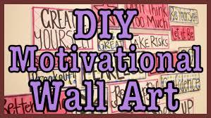 diy motivational wall art youtube