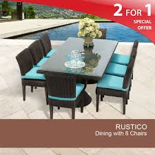 8 Seat Patio Dining Set - 8 person outdoor dining table wicker patio dining sets
