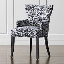Upholstered Dining Room Chairs With Arms Shop Dining Chairs Kitchen Chairs Crate And Barrel