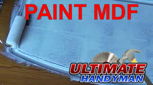 How To Paint A Bookcase White by How To Paint Mdf Youtube