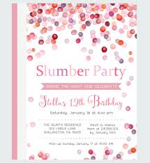 free printable slumber party invitation templates newest