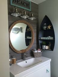 nautical bathroom ideas nautical bathroom in navy and white with anchor wall decor