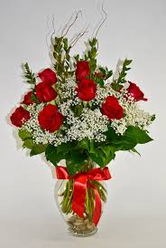 glass roses glass vase w 1 dozen roses 55 wholesale flowers and supplies