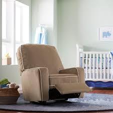 brady custom fabric nursery swivel glider recliner chair
