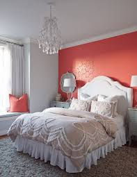Grey Wall Bedroom Best 25 Coral Accent Walls Ideas On Pinterest Coral Room