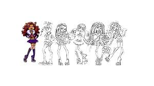 monster high coloring pages youtube