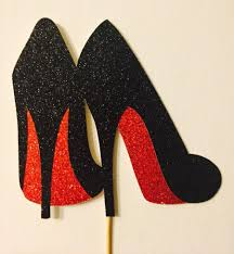 high cake topper glitter high heels cake topper choose your colors 2613595