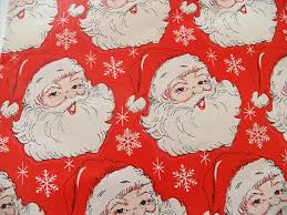 vintage christmas wrapping paper vintage christmas wrapping paper vintage santa claus gift wrap one