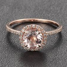gold and morganite ring 14k gold halo pave diamond engagement by iturraldediamonds