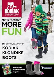 kodiak s winter boots canada enter for your chance to win a free pair of kodiak kid s winter