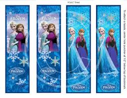 6 images frozen bookmarks printables disney frozen