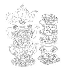 prweb htm image gallery tea party coloring book at best all