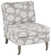 Light Grey Accent Chair Madrid Accent Chair With Toile Stems Light Gray And Medium Gray