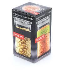 cuisine bodum bodum presso storage jar 0 25l black storage organization