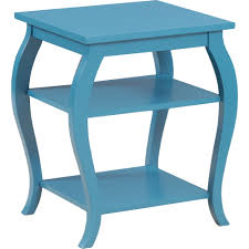 Blue Accent Table Powell 14a8093 Panorama Teal Side Table W 2 Shelves