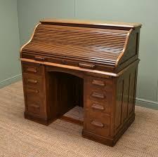 roll top desk tambour quality oak edwardian tambour front roll top antique desk c 1910