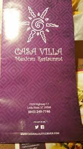 Patios Restaurant Little River Sc Casa Villa Mexican Restaurant Little River Menu Prices